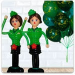 Оформление воздушными шарами 23 февраля