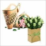 Пакеты и конусы для цветов