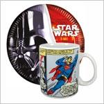Посуда Звездные войны и Супергерой
