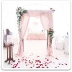 Украшения для зала и стола на свадьбу