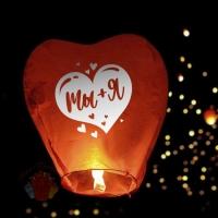 Фонарик желаний Ты+Я сердце Красный