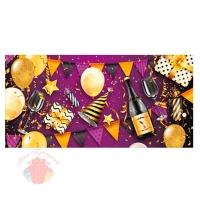 Конверты для денег, Вечеринка, Золото/Фиолетовый, 10 шт.