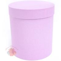 Коробки круглые бумага матовая 18*16 Однотонная Розовый