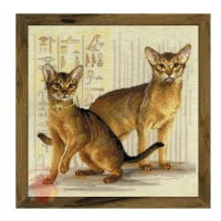 Набор для вышивания крестом Абиссинские кошки 40*40 см