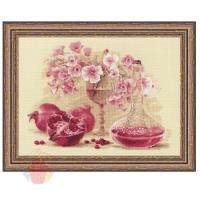 Набор для вышивания крестом Розовый гранат 40*30 см