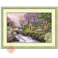 Набор для вышивания крестом Весенний пейзаж  38*26 см