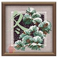 Набор для вышивания крестом Зима 20*20 см