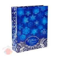 Пакет ламинат Снежинки 12 х 15 см