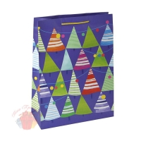 Пакет подарочный Елочки-иголочки, 26 х 36 х 11,5 см