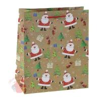Пакет подарочный В гостях у Деда Мороза, премиум, 33 х 42,5 х 10 см