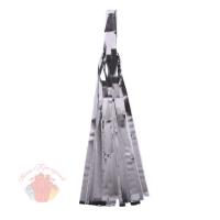 Помпон Кисточка 35 х 12,5 см 5 листов фольга серебро