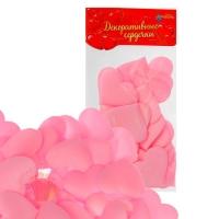 Сердечки декоративные набор 25 шт. 5 см цвет розовый