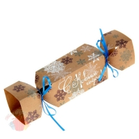 Складная коробка-конфета Снежинки 23 × 5 × 5 см