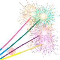 Свечи Бенгальский огонь, Цветные искры, 24 см, 4 шт.