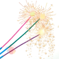 Свечи Бенгальский огонь, Звездный огнепад, 55 см, 3 шт.