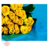 Пакет КАРТОН-ГИГАНТ Желтые розы на голубом, 64*40 см