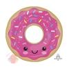 А ФИГУРА/P35 Пончик в глазури розовой