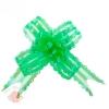 Бант-бабочка №3 органза резной зеленый (в упаковке 10шт одного цвета)