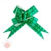 Бант-бабочка № 4,5 голография с рисунком 3D квадраты зелёный