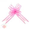 Бант-бабочка №5 флизелин с блёстками розовый