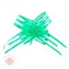 Бант-бабочка №5 флизелин с блёстками зелёный