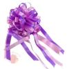 Бант-шар с полосой Комбо 110 мм  Нежно-розовый с сиреневым (10 шт.)