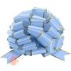 Бант Шар, Золотая полоска, Голубой, Металлик, 36 см, 1 шт.