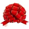 Бант Шар, Золотая полоска, Красный, Металлик, 36 см, 1 шт.