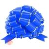 Бант Шар, Золотая полоска, Синий, Металлик, 36 см, 1 шт.