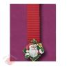 Большие новогодние украшения Дед Мороз на шторке красный 1 м 52 см