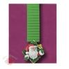 Большие новогодние украшения Дед Мороз на шторке зеленой 1 м 52 см