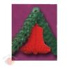 Большие новогодние украшения Колокольчик, и гирлянда 4 м, Красный