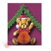 Большие новогодние украшения Медведь с бантом, 51 см и гирлянда 4 м