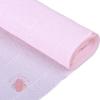 Бумага гофрированная 569 бело-розовая, 50 см х 2,5 м