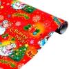 Бумага упаковочная глянцевая в рулоне С новым годом 70 х 100 см