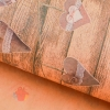Бумага упаковочная крафт Гирлянда из сердечек 50 х 70 см
