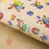 Бумага упаковочная крафт Новогодний щенок 50 х 70 см