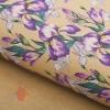 Бумага упаковочная крафт Розовые ирисы 50 х 70 см