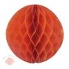 Бумажное украшение шар 30 см оранжевый