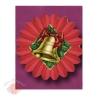 Бумажные новогодние украшения Фант красный с колокольчиком 61 см