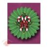 Бумажные новогодние украшения Фант зеленый с конфетами 61 см