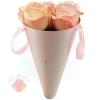 Бумажный конус для цветов Розовый 30*14 см