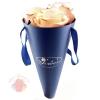 Бумажный конус для цветов Синий 30*14 см