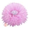 Бумажный цветок 50 / 23 см розовый белый