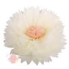 Бумажный цветок 50 / 23 см бежевый персиковый