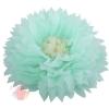 Бумажный цветок 50 / 23 см мятный бежевый
