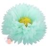Бумажный цветок 50 / 23 см мятный желтый