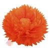 Бумажный цветок 50 / 23 см оранжевый светло-оранжевый