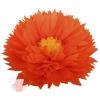 Бумажный цветок 50 / 23 см оранжевый ярко-желтый