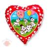 Далматинцы (красный) С Днем Рождения HB Dalmatian